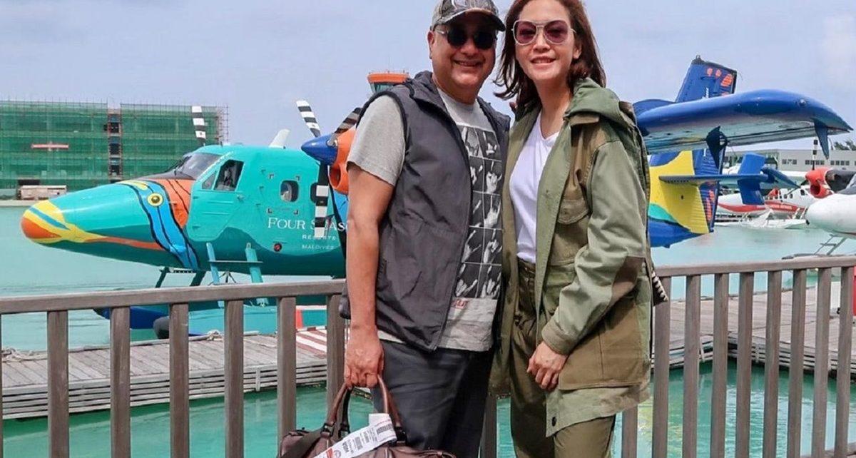 Honeymoon Maia Estianty dan Irwan Mussry di Maladewa
