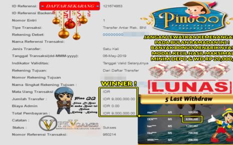 Pemenang Besar Di PinoQQ 6/5/2019