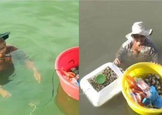 Wanita Tua Ini Rela Berenang di Laut Berjam-Jam, Alasannya Bikin Haru