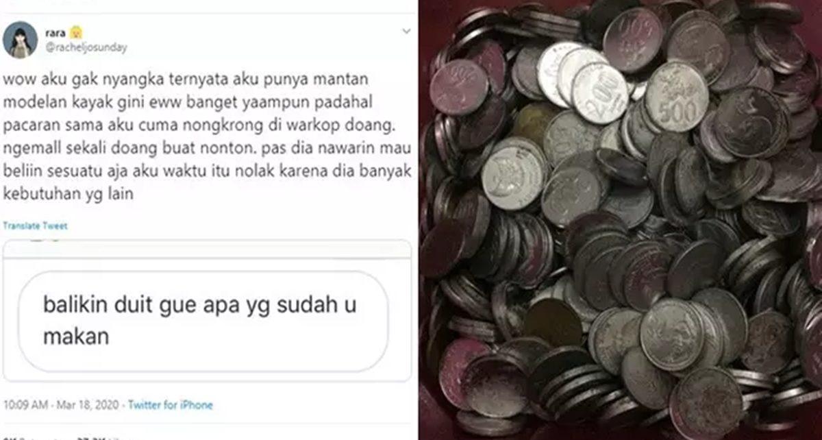 Viral Mantan Pacar Minta Uang Dikembalikan, Dibayar dengan Uang Koin
